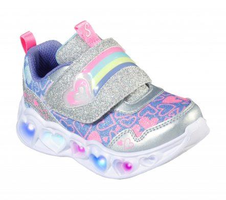 Pantofi sport copii SKECHERS HEART LIGHTS-LOVIE DOVIE (302660N-SMLT)